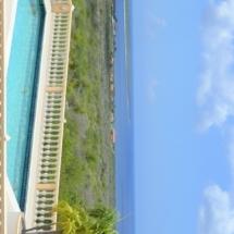 Uitzicht op het zwembad